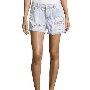 One Teaspoon Distressed Diamonde Charger Shorts